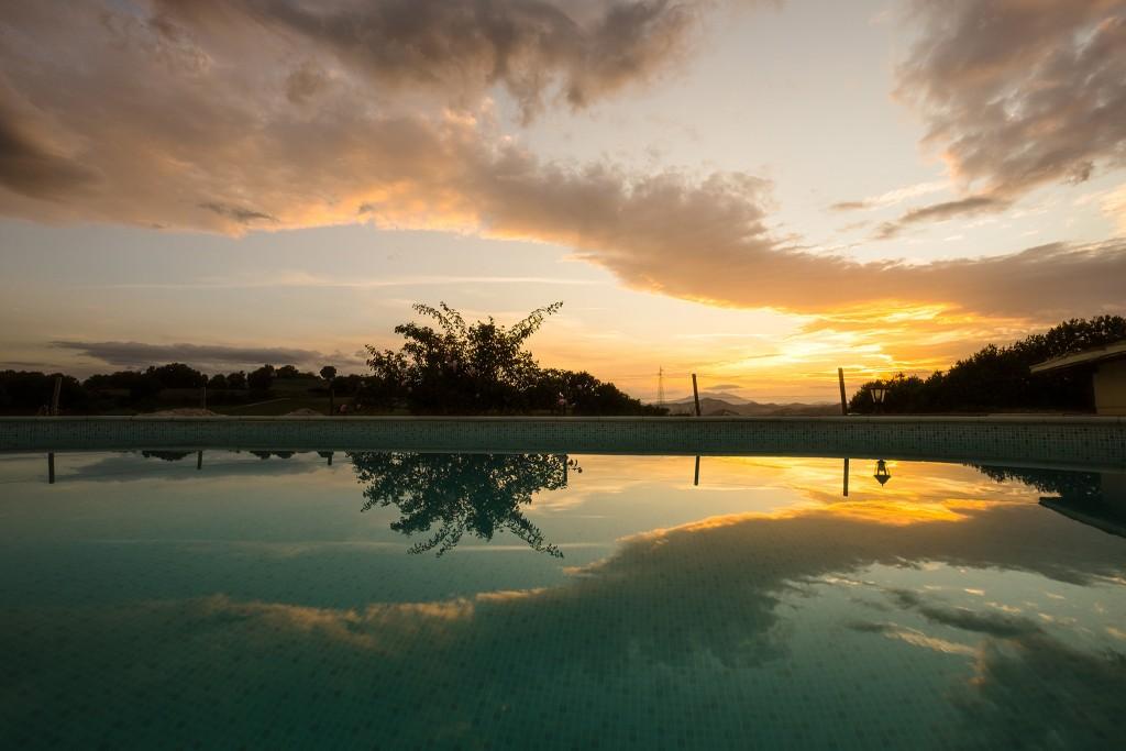 vakantiewoning uitzicht zwembad
