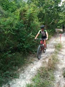 mountainbike pad bij I Magnoni